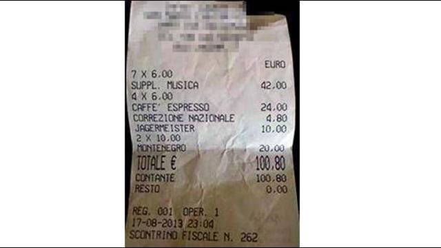 4 ly cà phê ở Italy bị 'chém' 3 triệu đồng