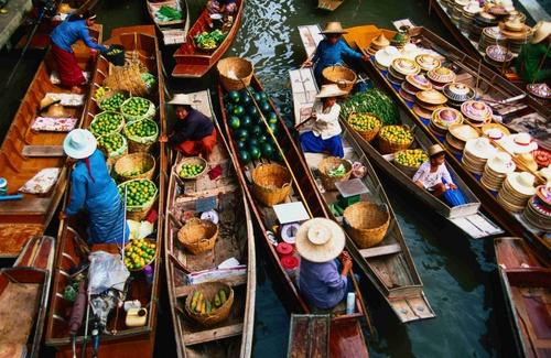 Chợ nổi tại Thái Lan
