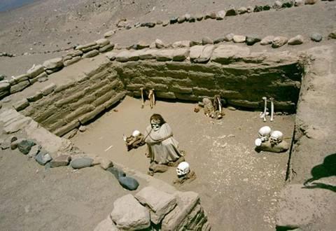 Nghĩa trang 'cười' ở Peru