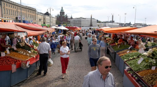 Chợ trời truyền thống ở Phần Lan