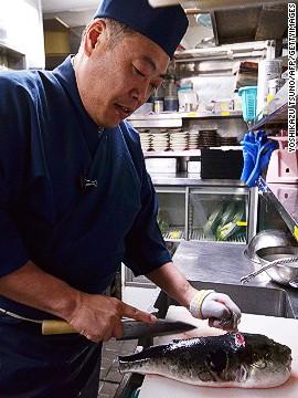 Món ăn thách thức tử thần của người Nhật