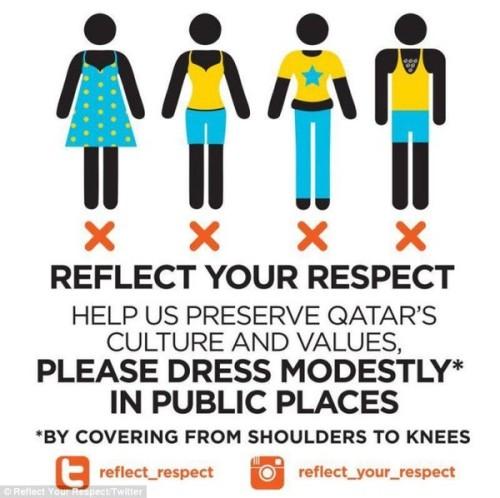 Qatar cấm du khách nữ mặc quần legging