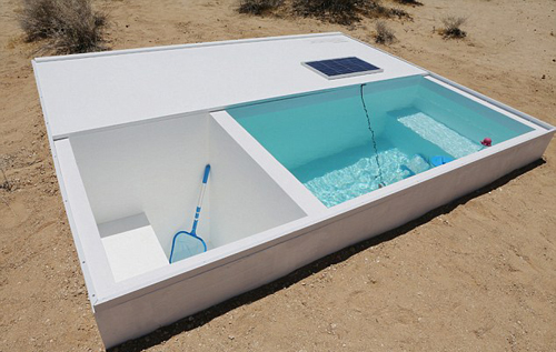 Hồ bơi bí mật giữa lòng sa mạc Mojave