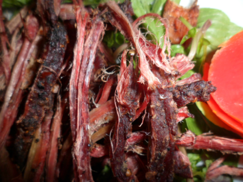 Thịt trâu gác bếp, món ngon của núi rừng Tây Bắc