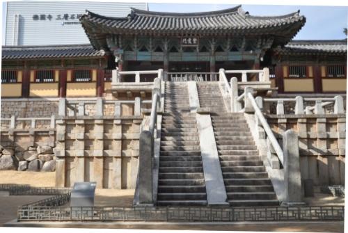Kiến trúc lâu đời của chùa Bulguksa