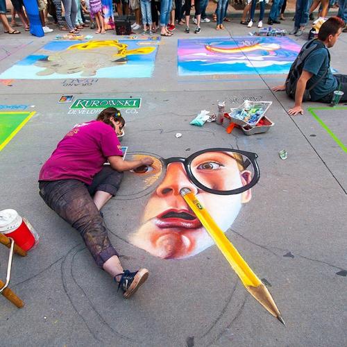 Nghộ nghĩnh những bức tranh đánh lừa thị giác trên đường phố Mỹ