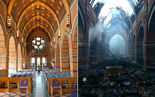Nhà thờ lịch sử 200 năm tuổi ở Anh bị thiêu rụi