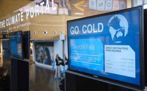 Stockholm trang bị 'cổng thời tiết' ở sân bay