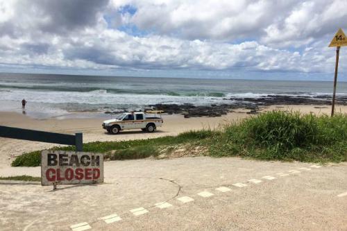 Bãi biển trống trải vì cá mập tấn công