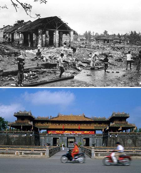 Những thành phố bị hủy hoại bởi chiến tranh: ngày ấy - bây giờ