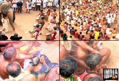 Đập dừa vào đầu - hành động cầu may ở Ấn Độ
