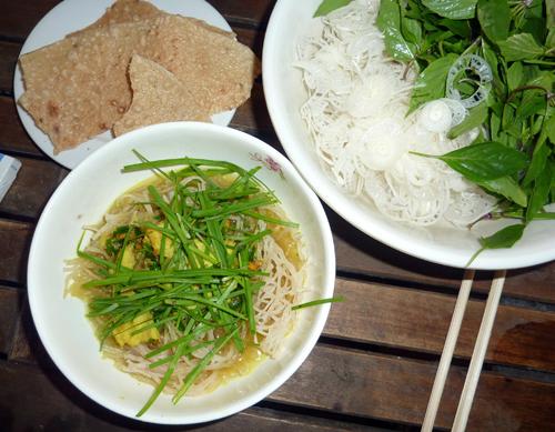 Phở sắn cá lóc đồng ở Quảng Nam