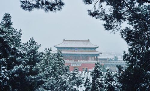 Bắc Kinh trong đợt tuyết đầu mùa