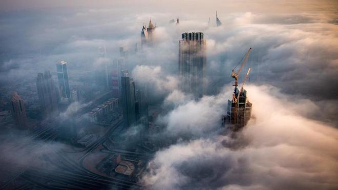 Sương mù huyền ảo ở Dubai