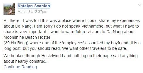 Khách Tây tố nhân viên khách sạn Đà Nẵng hành hung