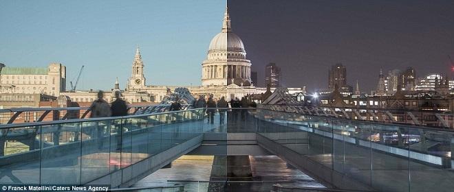 Vẻ đẹp khác biệt giữa ngày và đêm ở London