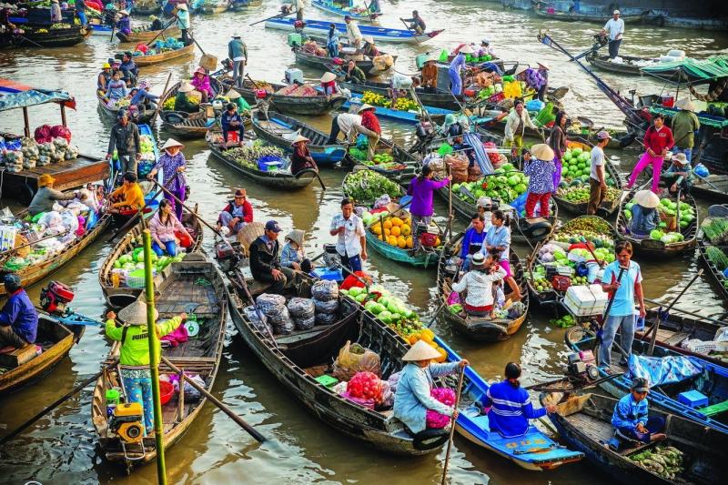 Độc đáo 5 chợ nổi miền Tây Nam Bộ