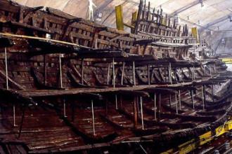 Tàu chiến hơn 400 năm dưới đáy biển