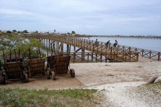 Hòn đảo vỏ sò trên vịnh Senegal