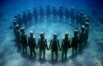 Hình ảnh ấn tượng tại Bảo tàng dưới nước Cancun