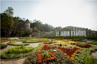 Khu vực vườn hoa Le Jardin D'amour
