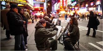 'Bỏ túi' những thành phố lớn với dịch vụ ký họa chân dung đường phố