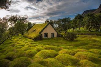Nhà thờ mái cỏ cuối cùng ở làng Hof