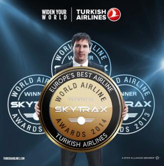 Turkish Airlines nhận giải 'Dịch vụ tốt nhất châu Âu'