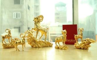 Quà tặng phong thủy: Nửa tỷ một bộ Dê vàng tặng đại gia