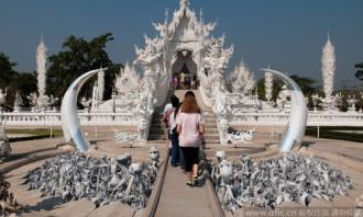 Đền Trắng ở Thái Lan cấm khách Trung Quốc