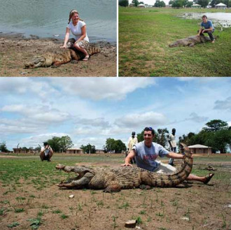 Nơi người dân nhập hồn vào cá sấu