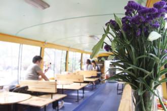 Cực lạ quán bus cafe tại Hà Nội
