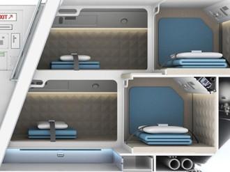 Thiết kế mới nhất của căn phòng bí mật trên máy bay