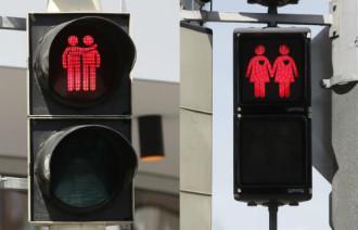 Tín hiệu đèn giao thông đồng giới ở Vienna