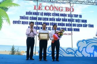 Biển Nhật Lệ vào top 10 thắng cảnh biển hấp dẫn Việt Nam