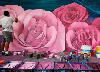Thị trấn Mexico được phủ sơn thành bức tranh cầu vồng