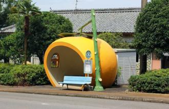 Những trạm dừng xe buýt hình hoa quả ở Nhật