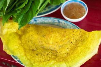 Bánh xèo củ hũ dừa bình dân tại Cần Thơ