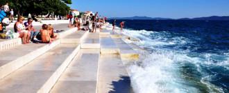 Cây 'đàn thần' trên biển ở Croatia