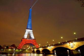 Tháp Eiffel lên đèn trở lại đón du khách sau vụ khủng bố