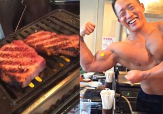 Nhà hàng toàn mỹ nam cơ bắp bán thịt nướng