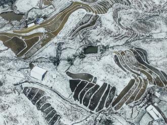 Sa Pa tuyết trắng nhìn từ trên cao