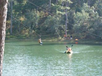 Đình chỉ hoạt động đu dây qua hồ Tuyền Lâm