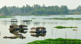 Khám phá hồ nước ngọt Búng Bình Thiên mùa nước nổi