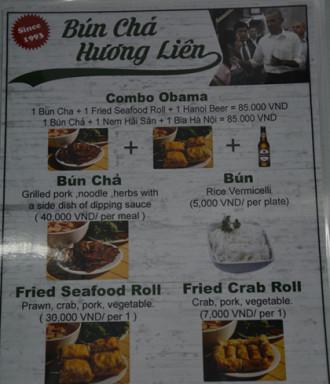 Quán bún chả Hương Liên đưa 'combo Obama' vào thực đơn