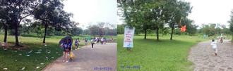 Công viên Yên Sở không còn điệp khúc rác ngập ngày lễ